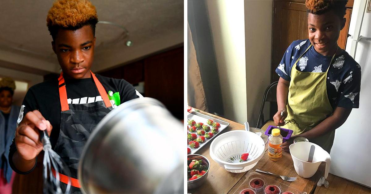 Chico de 13 años combate el hambre con postres