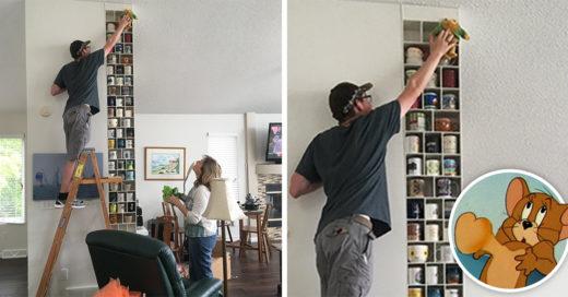 Su exesposo odiaba su colección de tazas, pero su nuevo novio le construyó una repisa