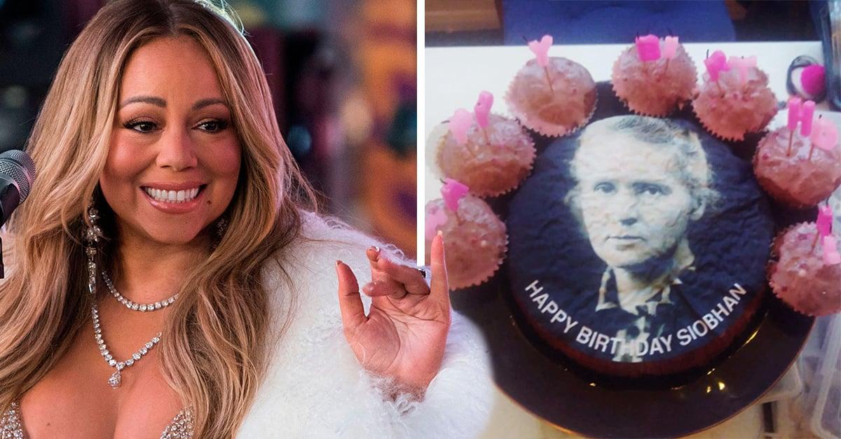 Confunden a Mariah Carey con Marie Curie y el resultado es un gracioso pastel