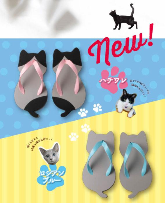 Sandalias de gatito con diferentes diseños