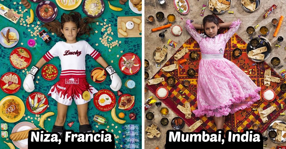 15 Fotos que muestran lo que comen los niños alrededor del mundo
