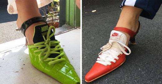 Esta chica reinventó los clásicos tenis Nike