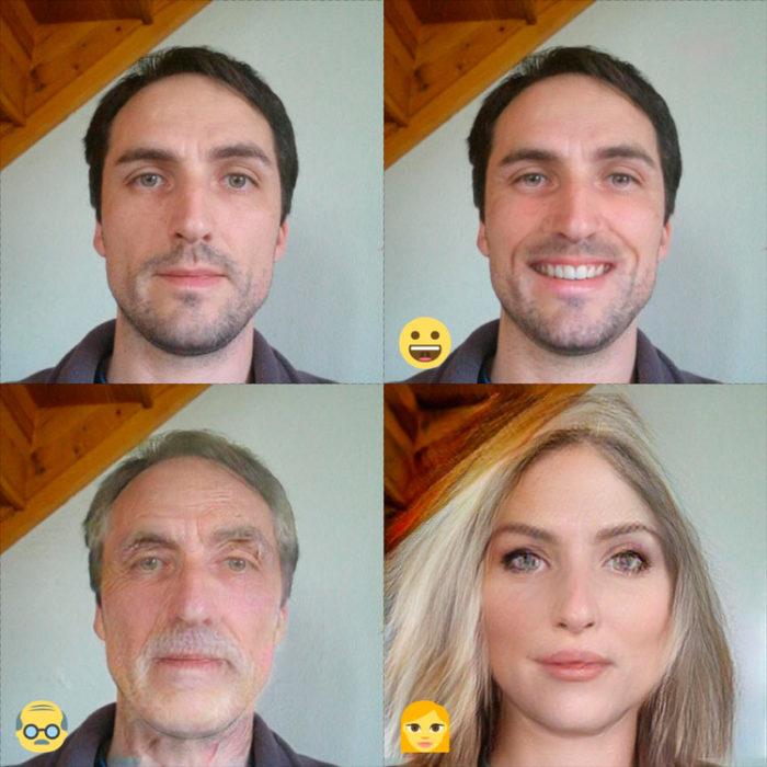 fotografías de todos los usos de FaceApp