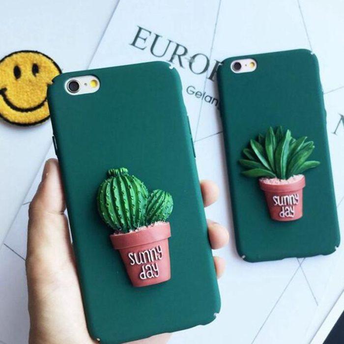 Phone case de cactus y suculenta