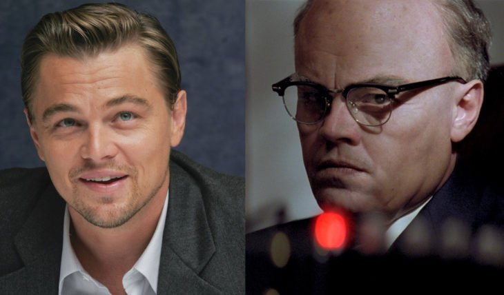 Leonardo DiCaprio interpretando a un hombre mayor