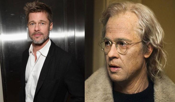 Brad Pitt interpretando a un hombre mayor en la película el curioso caso de Benjamin Button