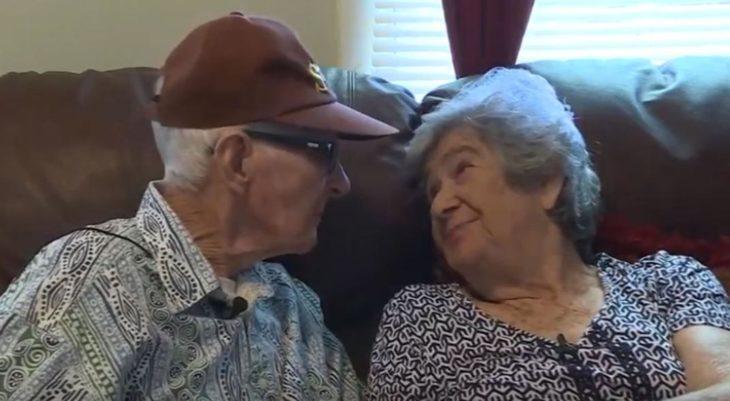 Hebert y Marilyn DeLaigle al cumplir 70 años de matrimonio