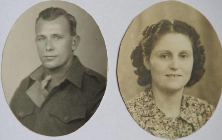 Herbert y Marilyn DeLaigle en su juventud