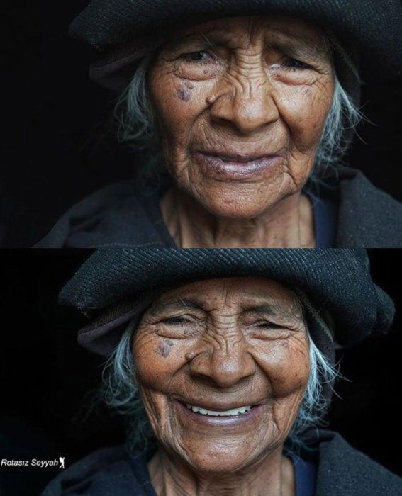 Fotógrafo capta el semblante de mujeres antes y después de decirles que son hermosas