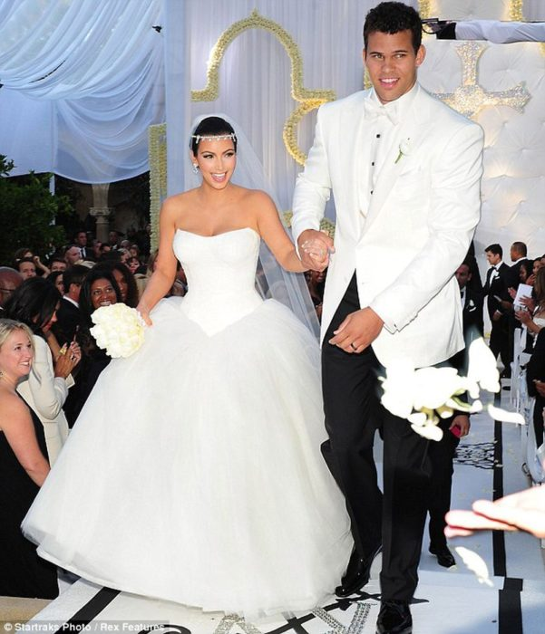 Kim Kardashian y Kris Humphries en su boda