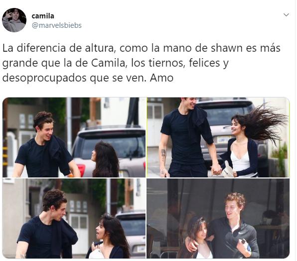Comentarios en Twitter sobre la relación entre Camila Cabello y Shawn Mendes