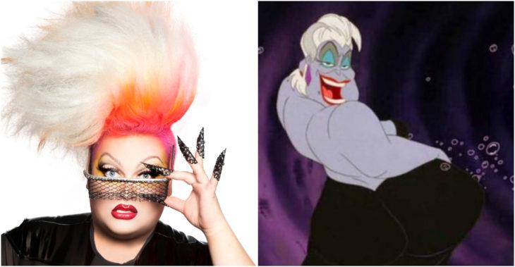 Ginger Minj maquillada y vestida como drag queen