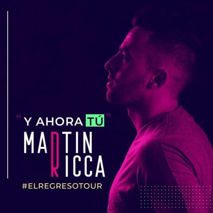 Portada del disco de Martin Ricca para su gira en México