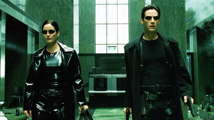 Datos sobre películas; Matrix con Keanu Reeves y Carrie-Anne Moss como Neo y Trinity