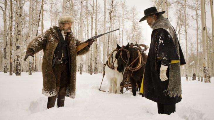 Datos sobre películas; Los ocho más odiados, personas en la nieve con caballo