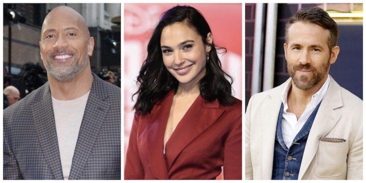 Dawney Johnson, Gal Gadot y Ryan Reynolds en una producción de Netflix