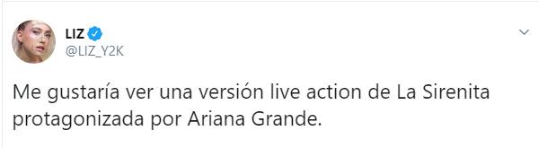 Comentarios en twitter sobre quién interpretará a Ariel en el live action de La Sirenita