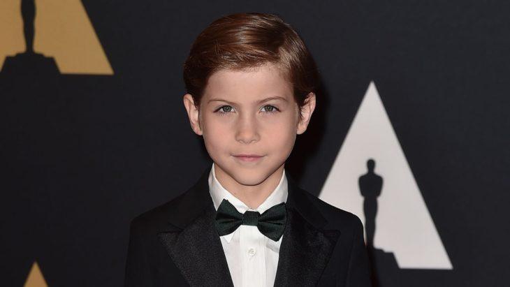 Jacob Tremblay actor de la película La habitación, durante la entrega de premios Oscar
