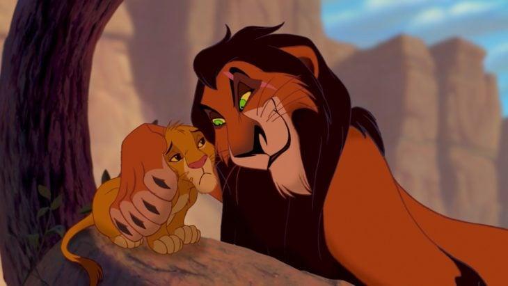 Curiosidades de la película de Disney, El rey León de 1994; Scar y Simba