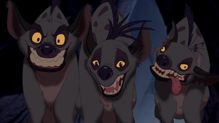 Curiosidades de película de Disney El rey león de 1994; hienas, Shenzi, Banzai y Ed