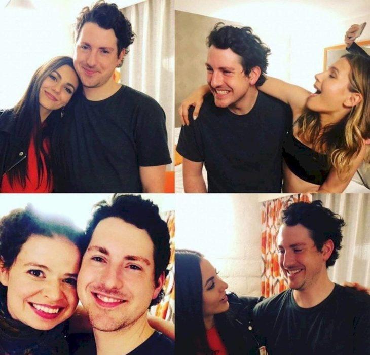 Victoria Justice, Sean Rio posando para fotos en Instagram