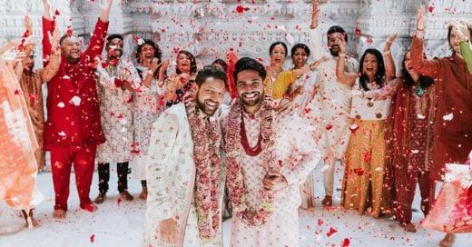 Esta pareja celebró su boda gay con una ceremonia tradicional hindú