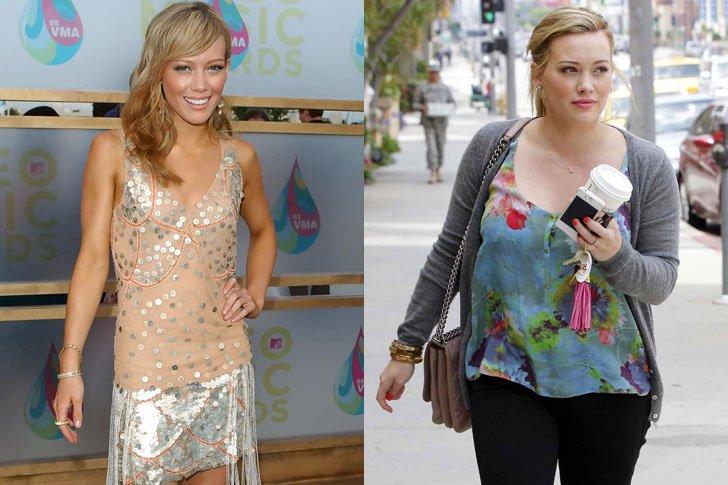 Hillary Duff antes y después de subir de peso y recuperarse de la anorexia