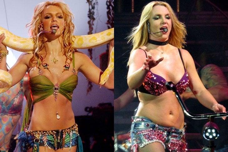 Britney Spears antes y después de subir de peso ligeramente