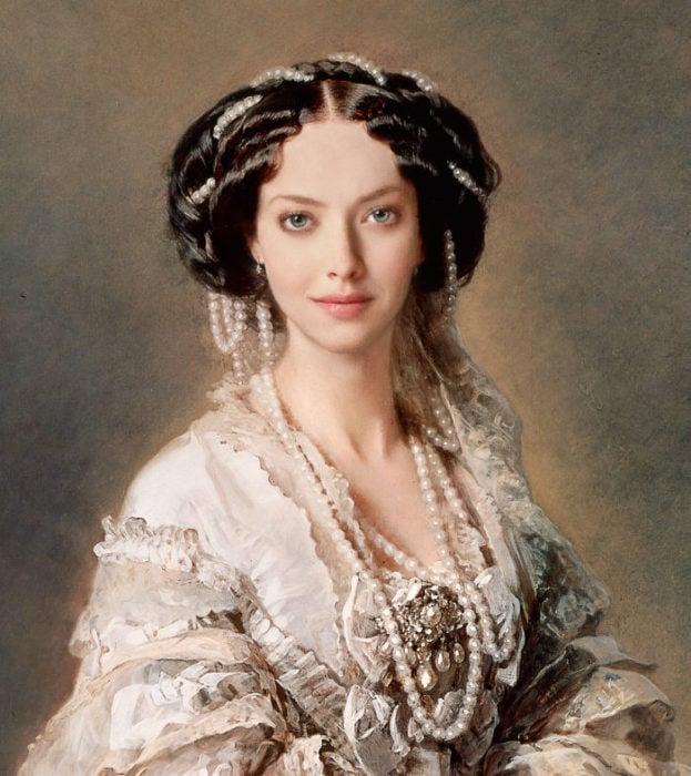 Amanda Seyfried pintada como el autorretrato de la emperatriz María Alexandrovna