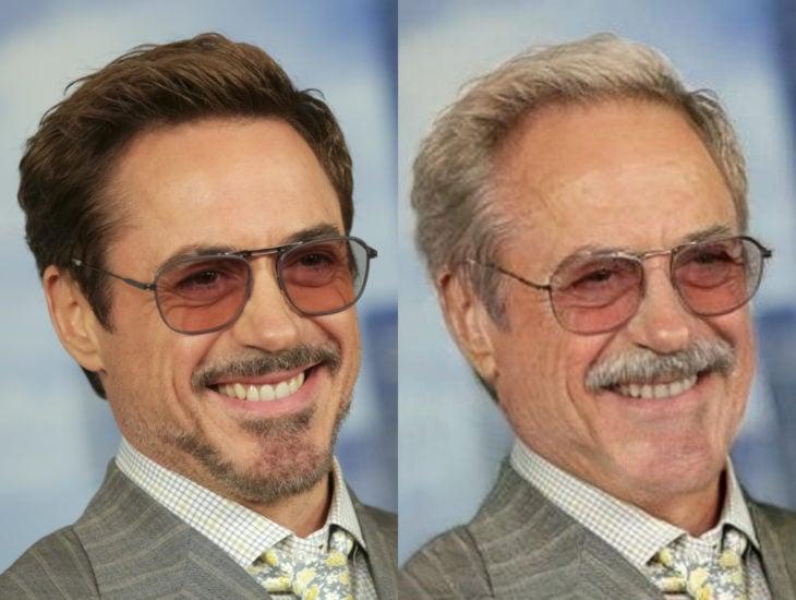 Famosos con filtro que hace viejo; Robert Downey Jr. antes y después