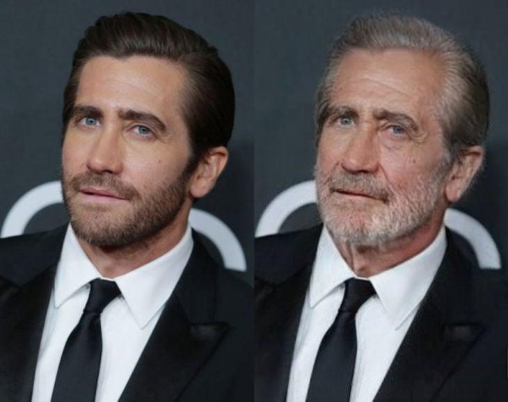 Famosos con filtro que hace viejo; Jake Gyllenhaal antes y después