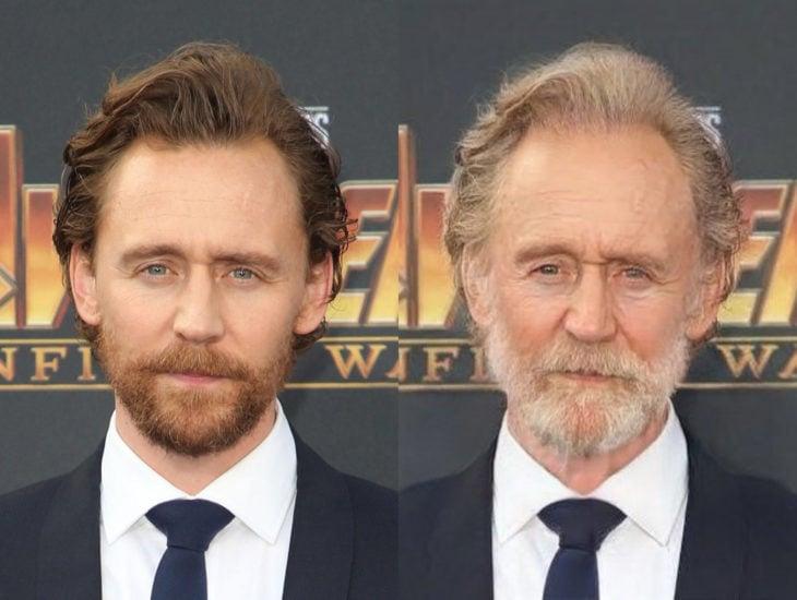 Famosos con filtro que hace viejo; Tom Hiddleston antes y después