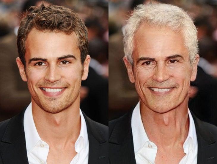 Famosos con filtro que hace viejo; Theo James antes y después
