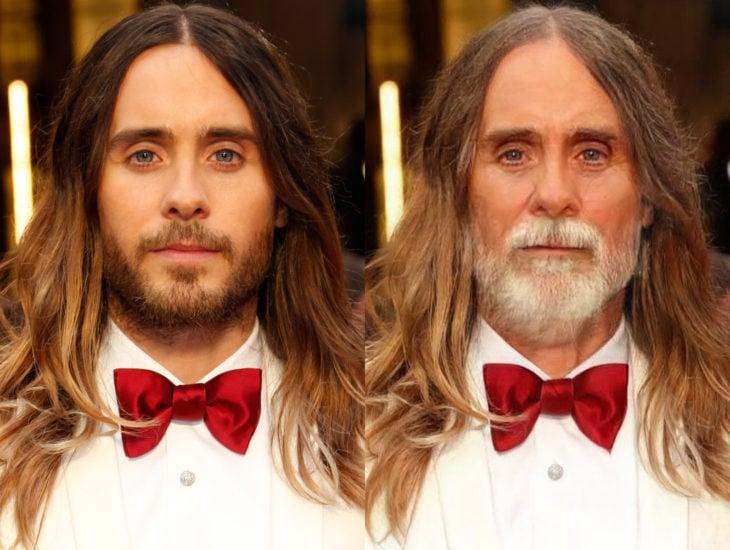 Famosos con filtro que hace viejo; Jared Leto antes y después
