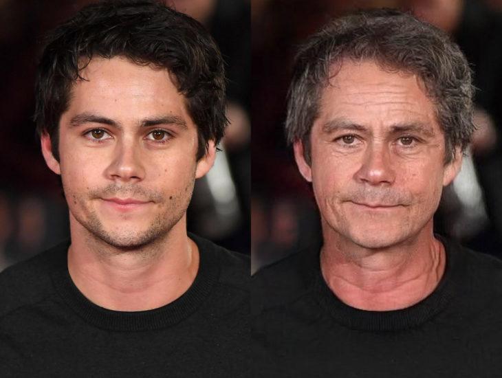 Famosos con filtro que hace viejo; Dylan O´Brien