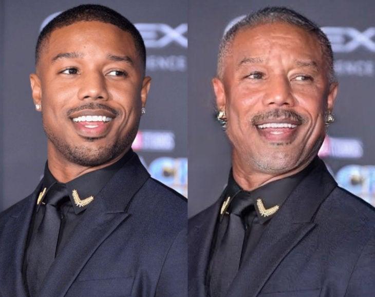 Famosos con filtro que hace viejo; Michael B. Jordan antes y después