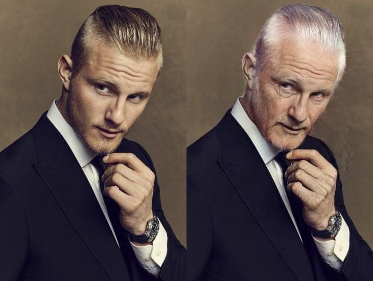 Famosos con filtro que hace viejo; Alexander Ludwig antes y después