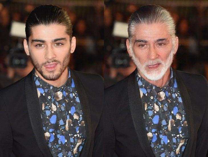 Famosos con filtro que hace viejo; Zayn Malik antes y después