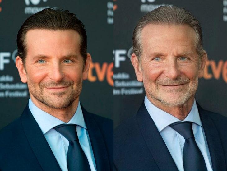 Famosos con filtro que hace viejo; Bradley Cooper antes y después