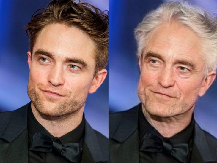 Famosos con filtro que hace viejo; Robert Pattinson antes y despúes