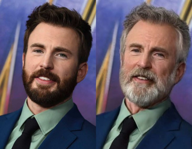 Famosos con filtro que hace viejo; Chris Evans antes y después