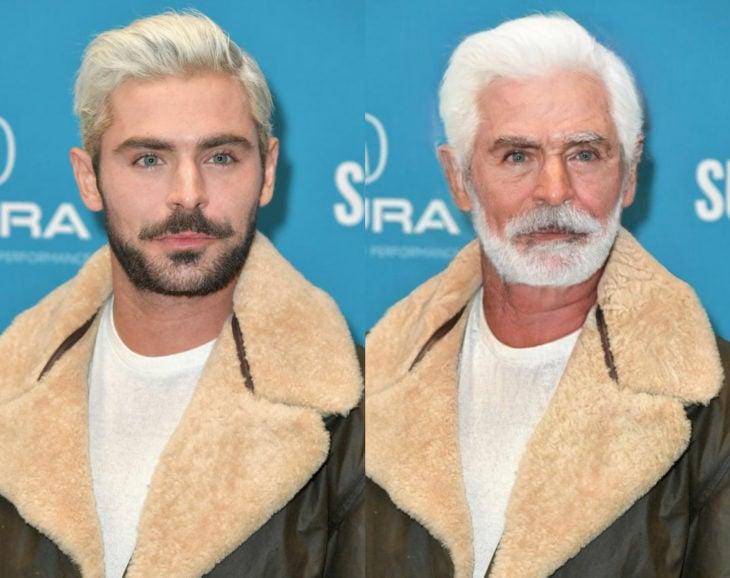 Famosos con filtro que hace viejo; Zac Efron antes y después