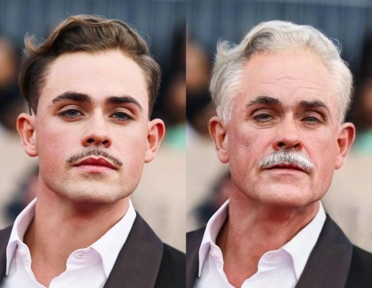 Famosos con filtro que hace viejo; Dacre Montgomery antes y después