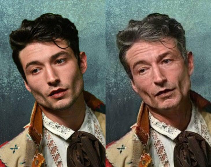Famosos con filtro que hace viejo; Ezra Miller antes y después