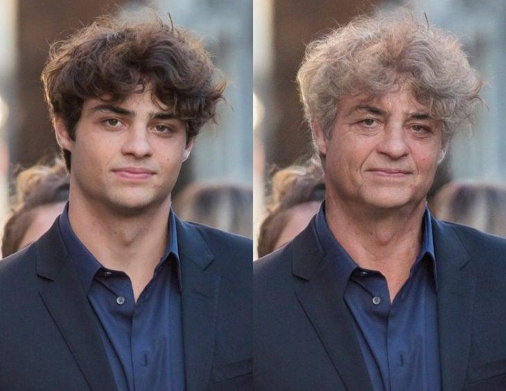Famosos con filtro que hace viejo; Noah Centineo antes y después