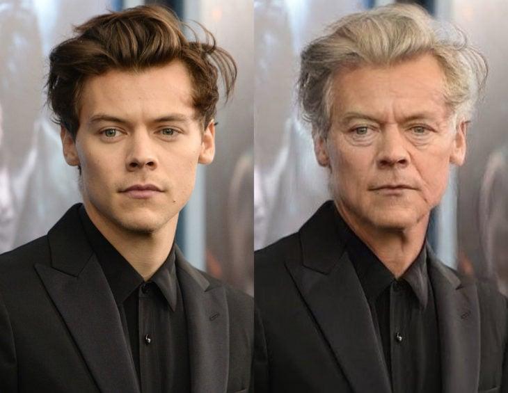 Famosos con filtro que hace viejo; Harry Styles antes y después