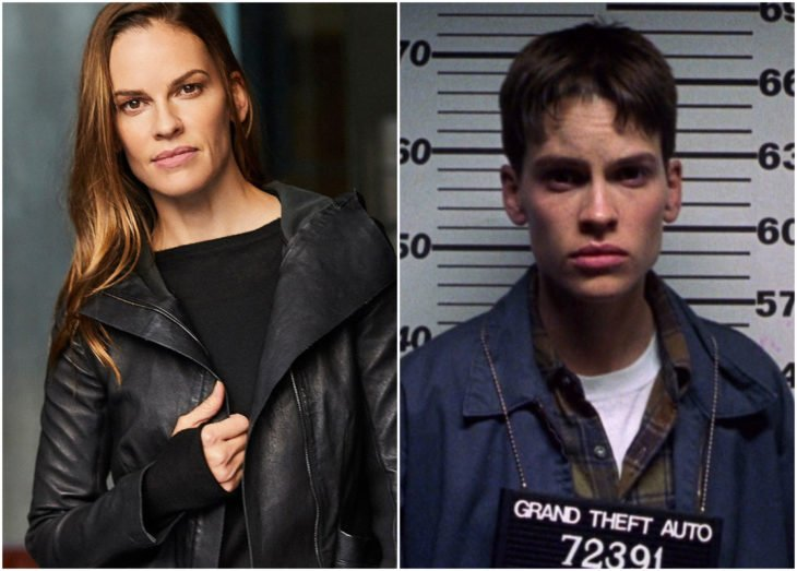 Hilary Swank como Brandon Teena en Boys don't cry