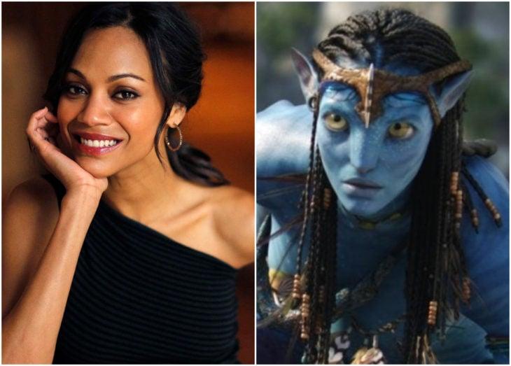 Zoe Saldana cono Neytiri en Avatar