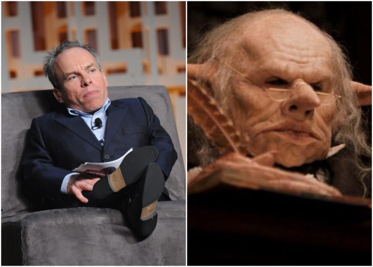 Warwick Davis cono Griphook en Harry Potter