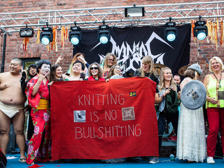 grupos finalistas en la competencia mundial de heavy metal y tejido